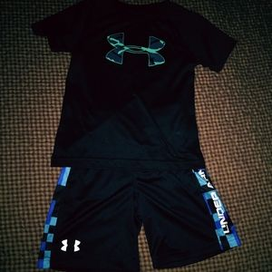 Boy's Under Armour Shorts and Top Size 5